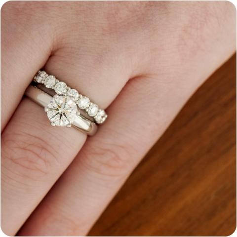 Tiffany 7-stone shared setting wedding band!