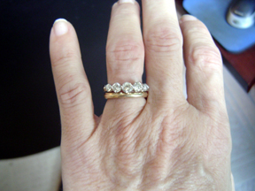 Wedding Band To Suit 5 Stone Engagement Ring Help