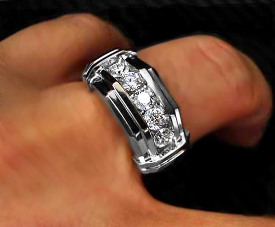Mens Gaudy Wedding Ring