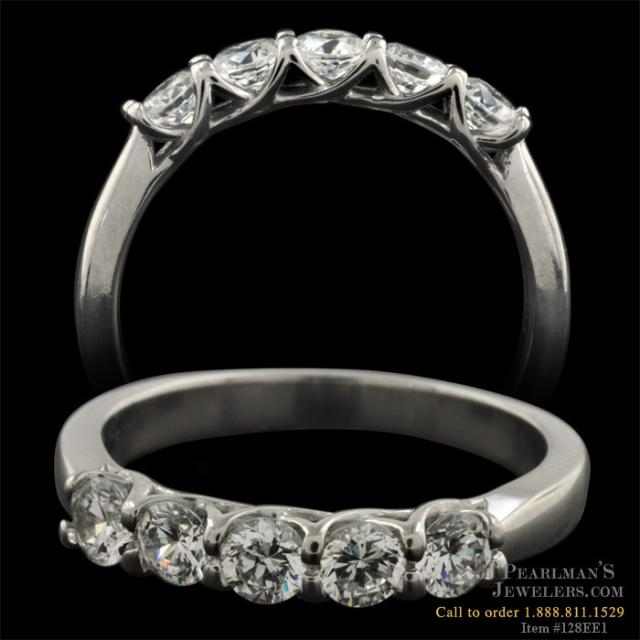 five stone band from the pearlman 39 s bridal collection this ring