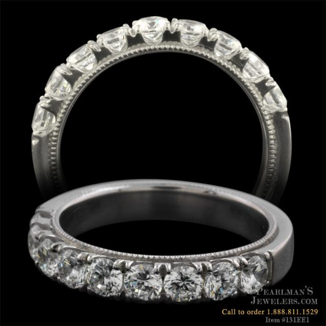 From the Pearlman 39s Bridal Collection an elegant platinum half eternity