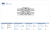 Matching Bridal Diamond Ring Set in 18K White Gold (2 1/2 cttw.)