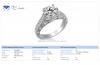 18K White Gold Ring With 1 Carat Diamond (1 3/4 cttw.)