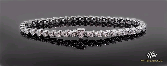 3 Prong Diamond Tennis Bracelet