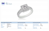 18K White Gold Diamond Ring With Split Shank (1.00 cttw)