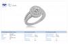 18K White Gold Diamond Ring with Split Shank (1.00 cttw)