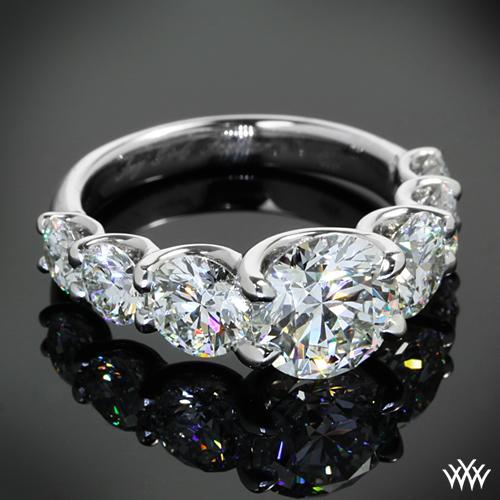 Custom 7 Stone U Prong Diamond Engagement Ring Pricescope