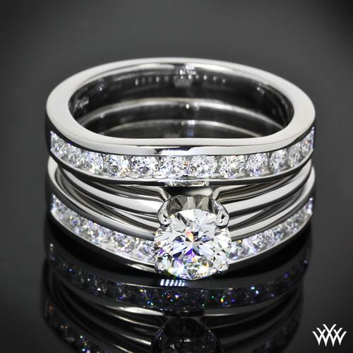 Custom Contoured Diamond Wedding Bands
