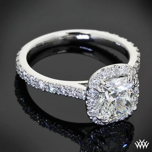 Custom Halo Diamond Engagement Ring | PriceScope