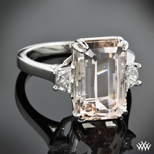custom emerald 3 ring pricescope