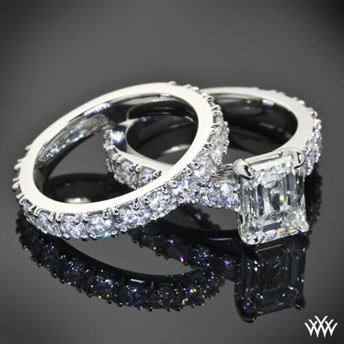Custom Diamond Engagement Ring and Wedding Ring