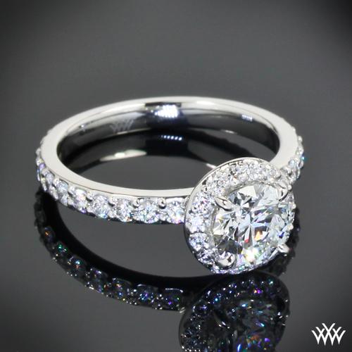 custom platinum halo engagement ring pricescope