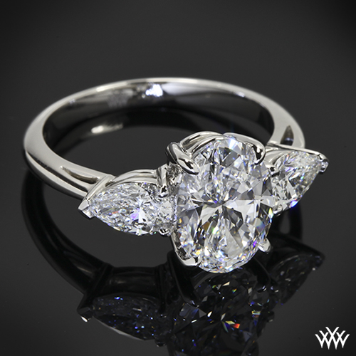 18K 1.11ct Princess Cut Diamond Engagement Ring