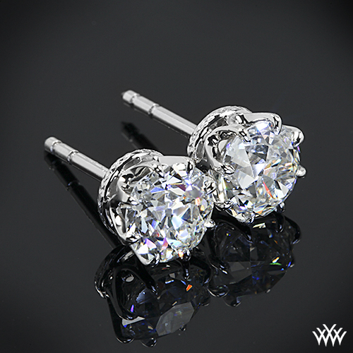 Custom 8 Prong Diamond Earrings