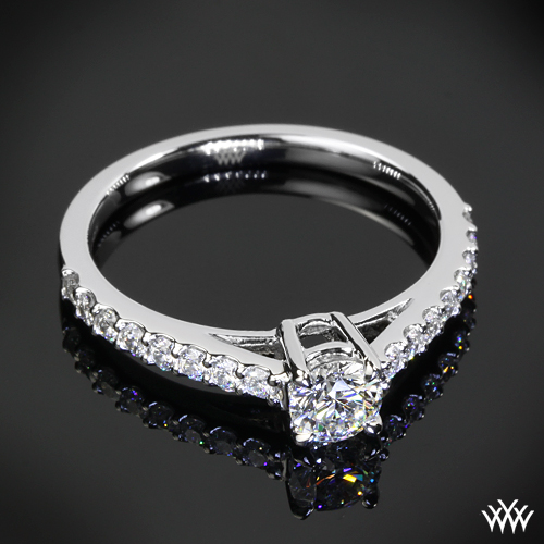 custom platinum engagement ring pricescope