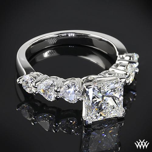 custom princess engagement ring pricescope
