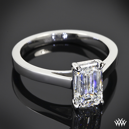 custom solitaire engagement ring pricescope