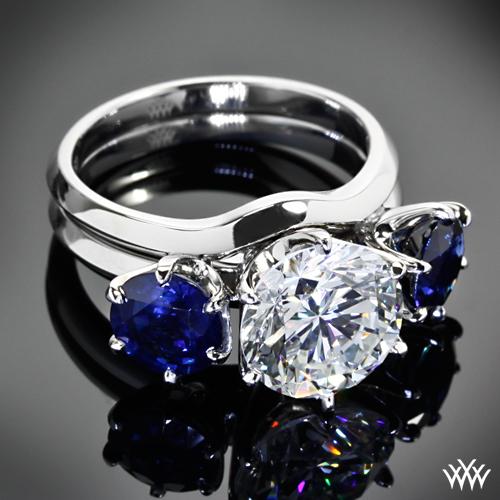 Wedding Ring Enhancers White Gold 85 Elegant Sapphire wedding ring enhancer