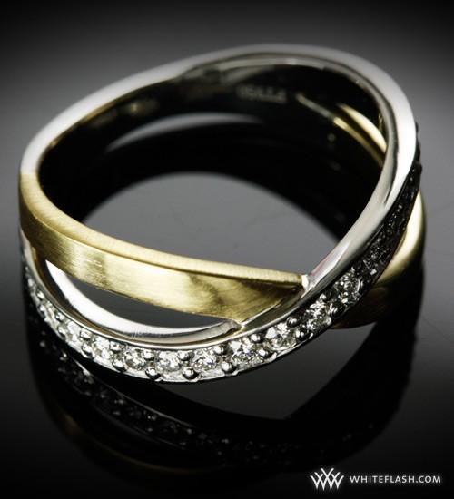 Custom Platinum And 18K Yellow Gold Wedding Band
