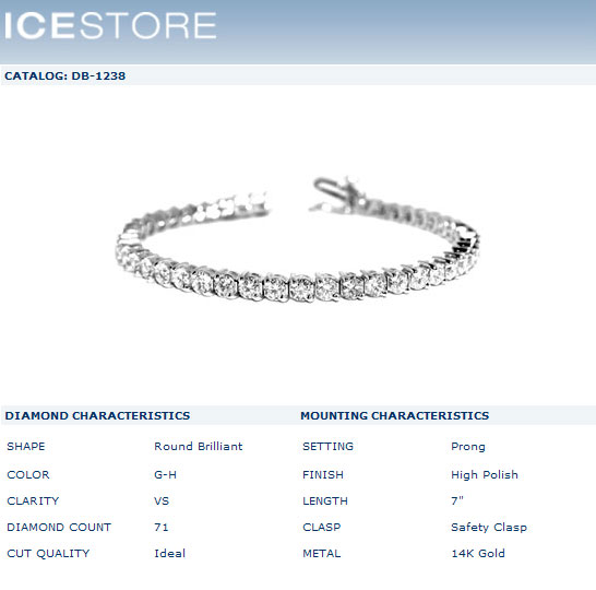 A 2-PRONG DIAMOND TENNIS BRACELET