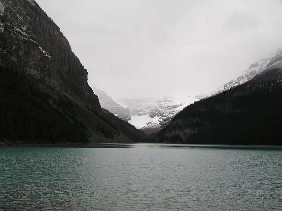 Cold day at the Fairmont Hotel, Lake Louise
