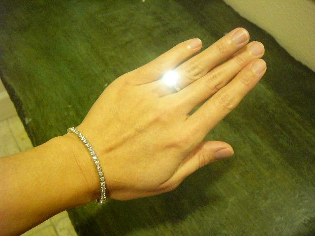 WF tennis bracelet 3ct