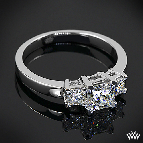 Customized 3 Stone Engagement Ring