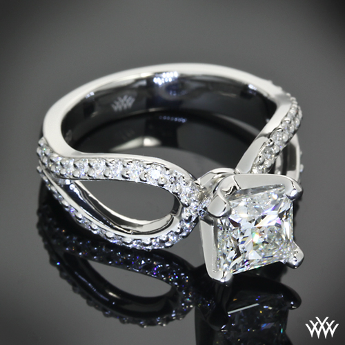 Customized Infinity Diamond Engagement Ring