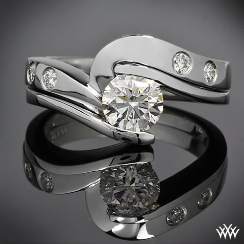 Custom Palladium Diamond Wedding Band