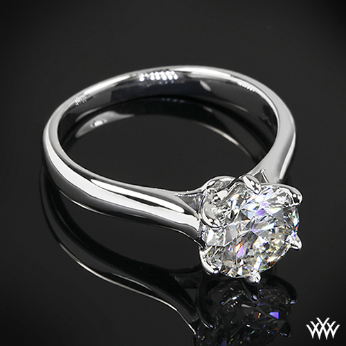 Royal Crown Classic Solitaire Engagement Ring by Vatche
