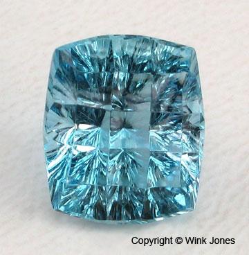 Concave faceted Aquamarine