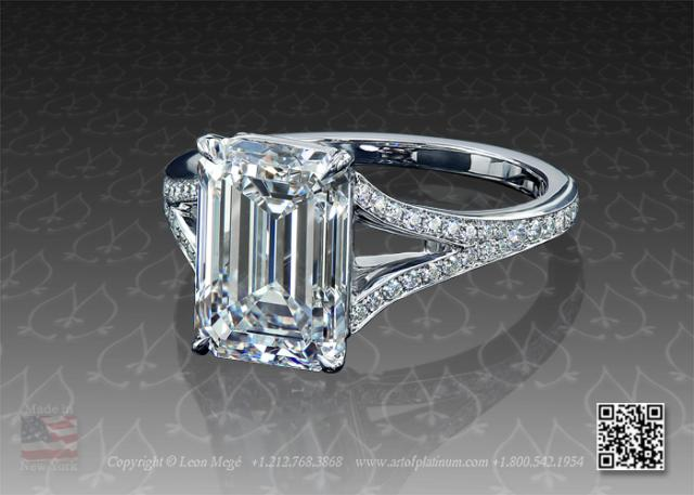Custom Made Split Shank Soliatire Engagement Ring R5774