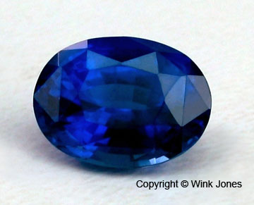 Incredible 5.54ct unheated blue sapphire