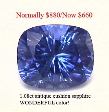 Sapphire cushion