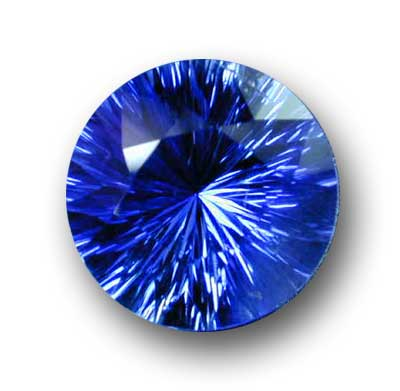 Incredible round blue sapphire - Natural color