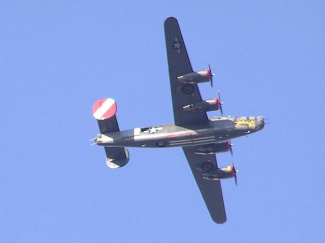 B-24 Flying Overhead