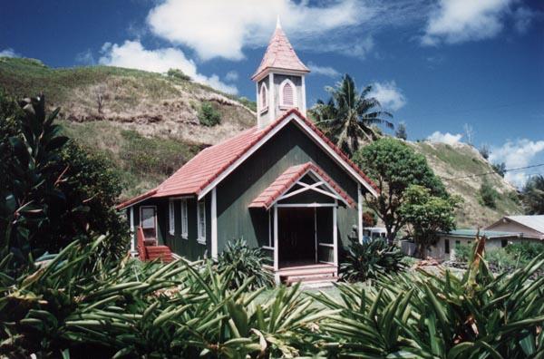 Green Church in Tiny Hawaiian Village