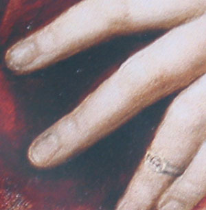 Figure 5. Ring. La Fornarina (detail) (1520) by Raphael