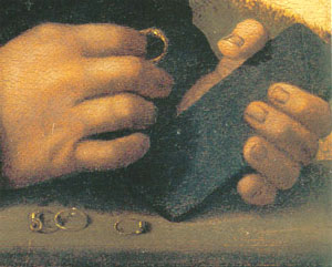 Figure 2. Portrait of a Jeweller (detail) (1516)