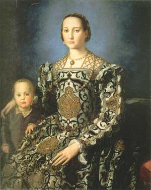 Figure 9. Eleonora di Toledo and Child of Cosimo I di' Medici by Bronzino (1503-1572).