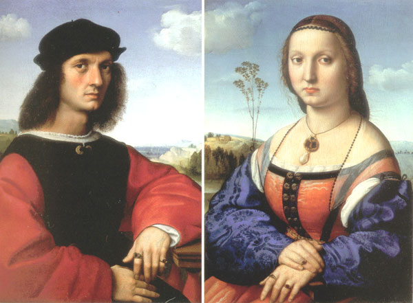 Figure 4. Portraits of Agnolo and Maddalena Doni (1505-1506) by Raphael (1483-1520)