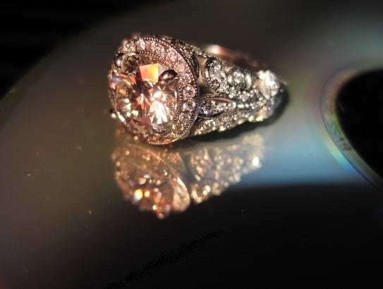 Phiip Press Platinum Engagement Ring