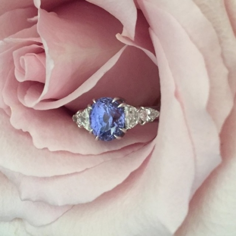 Royalstarrynights's Violet Color Shifting Sapphire Ring