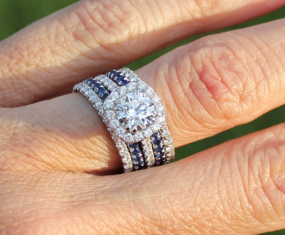 Blue Shire Wedding Bands Stackers Colored Stones Diamond Gemstone Sets Best 2017