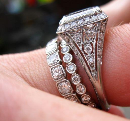 Mossy Oak Wedding Ring Sets 85 Marvelous Art deco engagement rings
