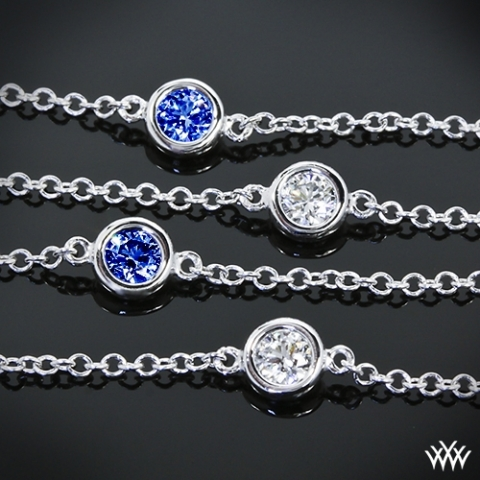 'Color Me Mine' Diamond and Sapphire Bracelet from Whiteflash