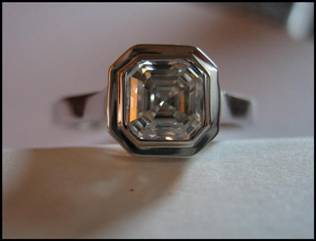 Asscher Cut Diamond by LaurenThePartier