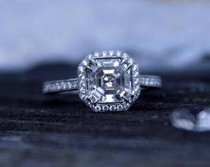 Asscher cut Diamond by Lovey2