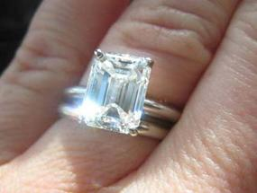 Emerald Engagement ring posted by Darling