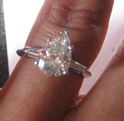 Pear Cut Diamond posted by KittyKat